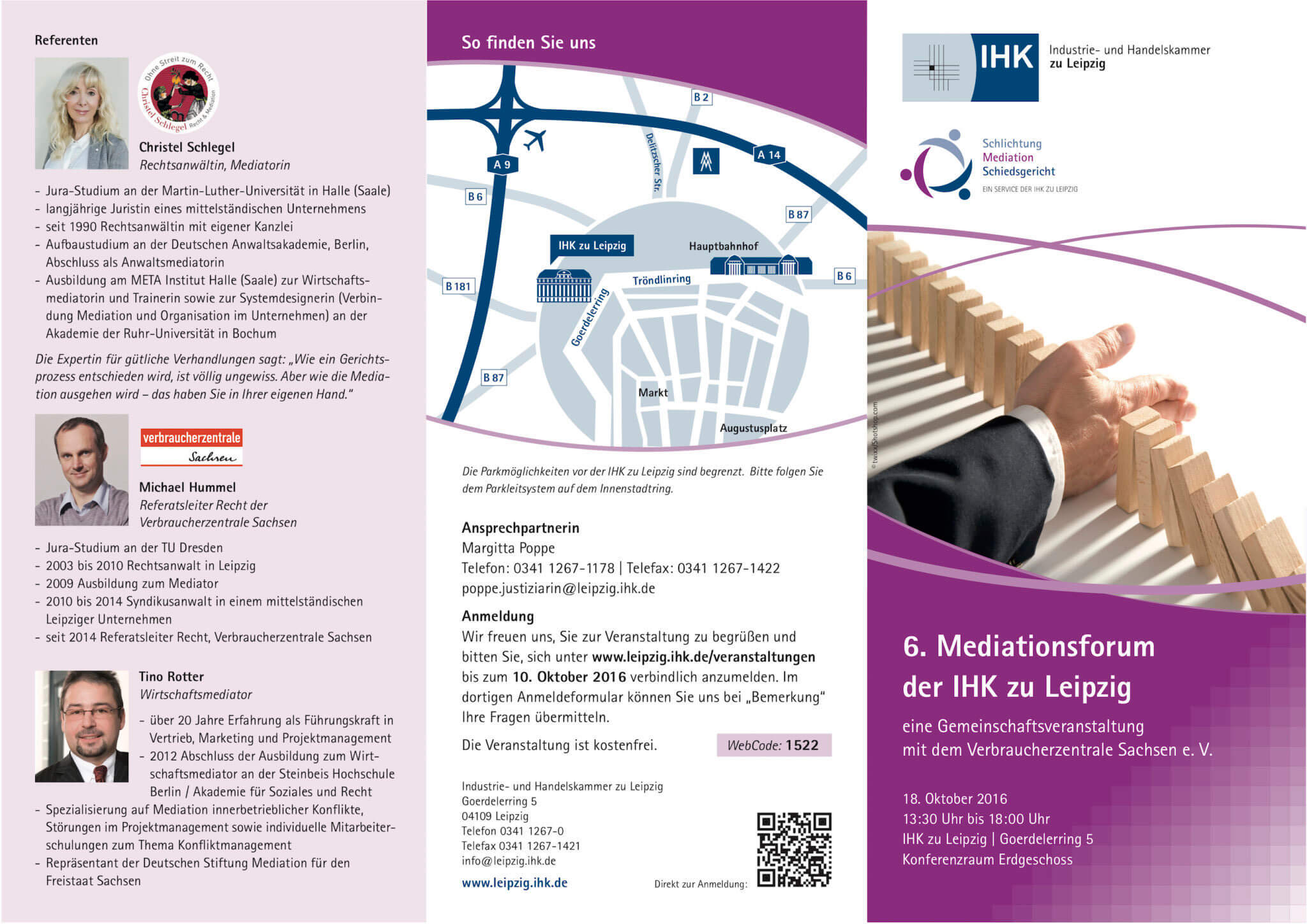 Christel Schlegel IHK Mediationsforum 2018 Flyer