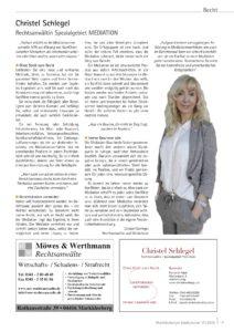 Christel Schlegel Markleeberger Stadtjournal 17/2016 Artikel