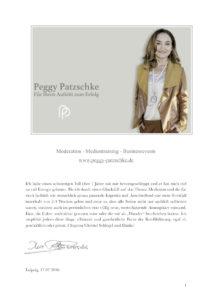 Christel Schlegel Referenz von Peggy Patzschke