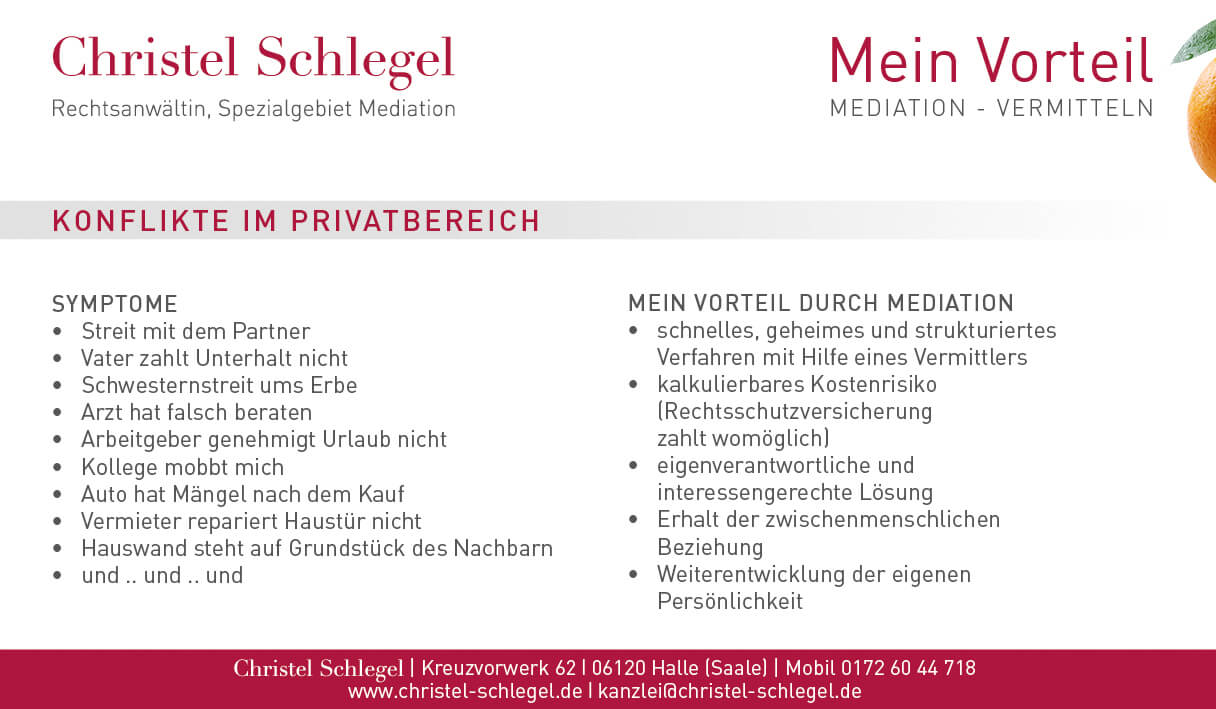 Christel Schlegel Mediation PDF Seite 1